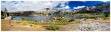 Panorama of Norah at Cook Lake