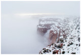 Canyonlands enshrouded in fog
