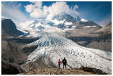 Steve and Norah admire Robson Glacier