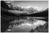 Clouds forming at Moraine Lake