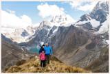 Three Lakes view with Jirishanca and Yerupaja