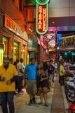 Greektown at night