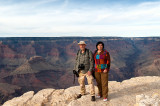 With Grand Canyon Behind