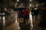 People In Rain