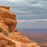 Navajo Chief Watching His Land