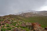 Mt. Damavand Under Snow Cloud