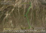 Damavand Camp2 - Camp3 Route Map
