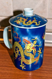 Yellow Dragon On Blue Mug