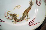 Golden Dragon On The Plate