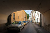 Arched Street In Old Town
