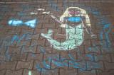 Chalk Mermaid On the Sidewalk