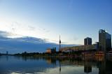 Donau River And Donauturm