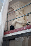 Caryatid Under Renovation