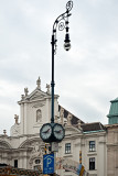 Tall Lantern With Round Clocks