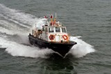 Pilot Boat Rushing To Catch Ship - Colon Panama