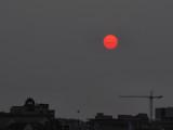 Sunrise Through Smoky Skies