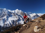 in front of Annapurna range