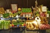 Veggie-restaurant display in Ponto-chō Kyoto @f2.4 D700