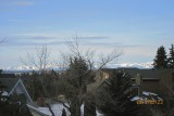 a view of Canadian rockies from Calgary
