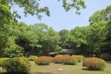 the inner garden of Meiji Shrine