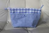 a blue pouch