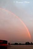 Regenboog op 1 juli 2016 's avonds