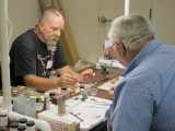Dave Schroedle (left) Instructing Weathering