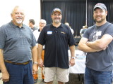 Clark Propst (left), Brian Strom, (center) and Jacob Klocke (right)