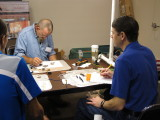 Dave Shroedle Teaching Weathering to Tim Stoubdt, NMRA Gateway Div'n Superintendent