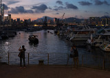 the typhoon shelter at dusk...