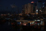 the typhoon shelter at night...