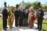 Les Voltigeurs de Québec Guest of Royal Canadian Legion Mohawk Branch 219 Monument Unveiling