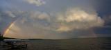Rainbow over Lake Bemidji
