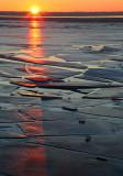 Sunrise over Cracked Ice