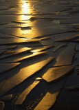 Setting Sunlight over Ice