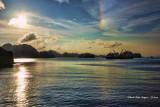 Sunset Ha Long Bay. Vietnam