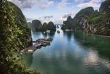 Boat docks Ha Long Bay