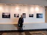 Nancy and her Exhibit on Concourse C