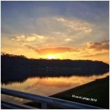 Sun setting over Ohio River