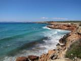 Waves at Cala Saona
