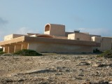 Space-Age building at Cala en Baster