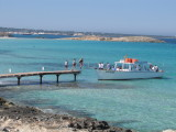 Getting Onto Espalmador Ferry 'Bahia'