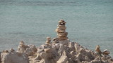 'Alien' stone tower on the Es Trucadors peninsula