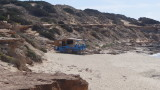 Es Copinar Beach – Bartolo's bar open on Easter Monday, prior to repair ready for the season