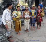 Reenacters dressed in taditional Costumes in Bayon