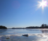 Sun Over Newburyport Ice