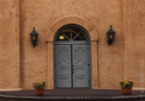 albuquerque church door