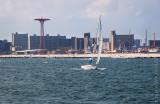 Sailing off Coney