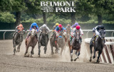 Belmont Race with Sign