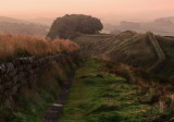 Dawn  over  Hadrian's  Wall.